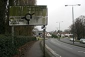 Very dirty road sign - Geograph - 1669239.jpg