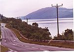 The A82 passing Loch Ness