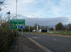 Approaching the Sprucefield Roundabout - Geograph - 3328328.jpg